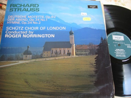 R. STRAUSS - SCHUTZ CHOIR - NORRINGTON - ARGO { R 1798